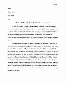 Hamlet Literary Analysis Essay Sample Literary Analysis Essay High School Hamlet By