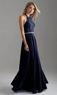 chiffon lace bodice halter prom dress promgirl