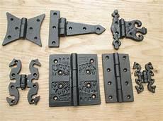 1 pair cast iron black antique kitchen cabinet cupboard