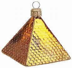 Pyramid Christmas Ornament Mini Egyptian Pyramid Polish Mouth Blown Glass Christmas