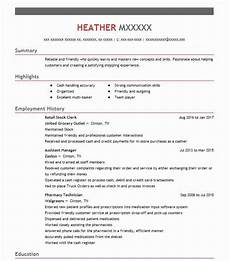 Objective For Resume Retail Retail Stock Clerk Objectives Resume Objective Livecareer