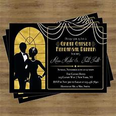 1920s Invitation Template Free Great Gatsby Invitation Rehearsal Dinner Invitation