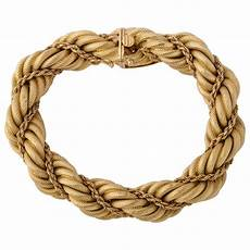 Rope Bracelet Designs Tiffany And Co 1960s Braided Rope Design Gold Twist