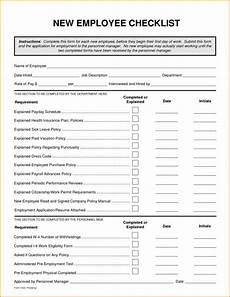 Sample New Hire Orientation Checklist New Hire Checklist Template New Employee Orientation