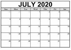 Free Calendars 2020 Printable Free Printable July 2020 Calendar Monthly Template