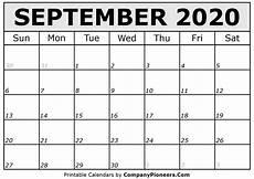 2020 17 Blank Calendar September 2020 Calendar Printable Printable 2020 Calendars