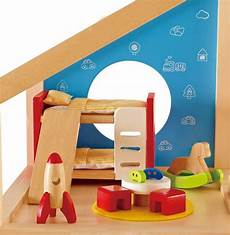 hape wooden doll house furniture children s room with