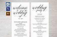 Program Template For Wedding Wedding Program Template 126940 Card Making Design