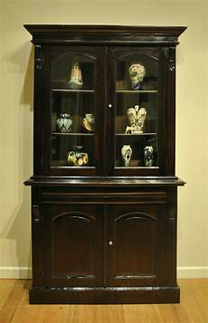 rustic antique style mahogany bookcase display