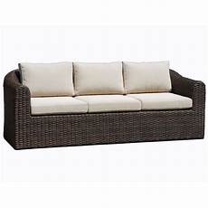 subiaco outdoor 3 seat wicker lounge sofa brown buy