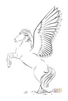 malvorlage fliegendes pferd zeichnen und f 228 rben