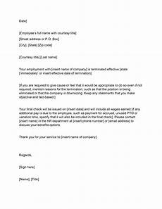 Employee Termination Letter Sample 35 Perfect Termination Letter Samples Lease Employee