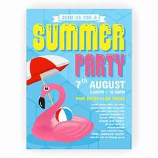 Summer Party Invites Summer Party Invitation Flyer Background Template Design