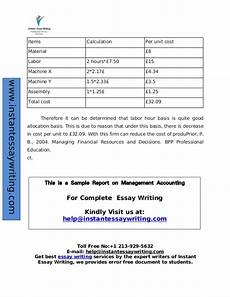 Asset Management Report Sample Sample Report On Management Accounting By Experts