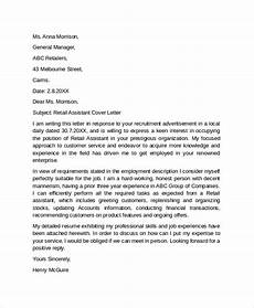 Cover Letter Retail Examples Free 29 Sample Cover Letter Example Templates In Pdf Ms