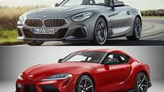 2020 toyota supra vs bmw z4 2020 toyota supra vs 2019 bmw z4 pictures photos