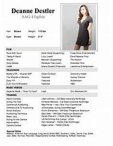 Child Actor Resume Format 7 Best Child Actor R 233 Sum 233 Images Acting Resume Acting