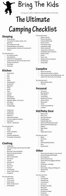 List For Camping The Ultimate Family Camping Checklist Free Printable
