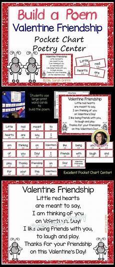 Pocket Chart Poems For Kindergarten Build A Poem Friendship Pocket Chart Poetry