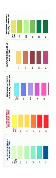 Api Nitrate Test Kit Color Chart Api Saltwater Amp Reef Test Chart Aquariacentral Com