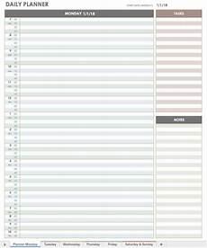 Free Daily Schedule Free Printable Daily Calendar Templates Smartsheet