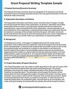Proposal Writing Sample Sample Example Amp Format Templates Writing A Grant