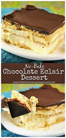no bake chocolate eclair dessert the kitchen is my
