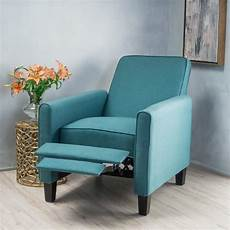 teal accent chairs noble house arden teal fabric recliner accent chair