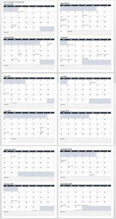 Two Month Calendar 2020 15 Free Monthly Calendar Templates Smartsheet