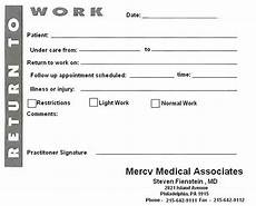 Printable Doctors Notes Free Fill In The Blank Doctors Note Template Business