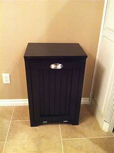 white trash can cabinet w bead board insert diy