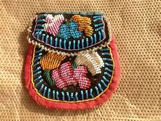 iroquois beaded bag antique american beadwork pouch