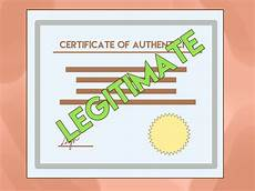 Make A Certificate Of Authenticity 3 Ways To Get A Certificate Of Authenticity Wikihow