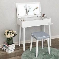 songmics vanity makeup table set with flip top