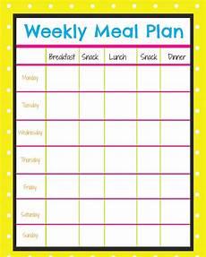 Menu Calendar Weekly Menu Planner More Excellent Me