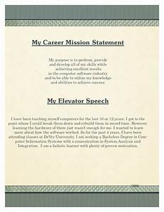 Career Portfolio Mission Statement Example My Portfolio