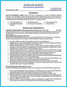 Business System Analyst Resume Best Secrets About Creating Effective Business Systems