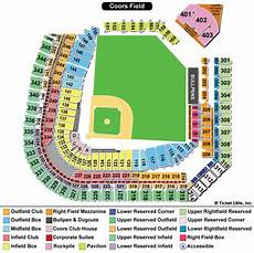 Coors Field Detailed Seating Chart Rows Coors Field Seating Chart