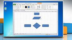 Flow Chart Template Excel How To Make A Flow Chart In Excel 2010 Youtube
