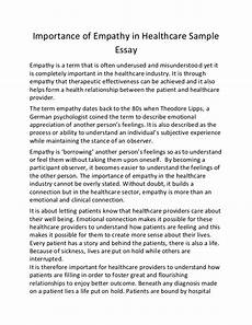 Essays About Health Importance Of Empathy In Healthcare Sample Essay