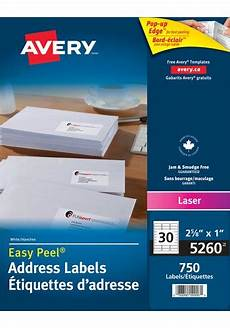 Avery Label Templates 5260 Avery 174 5260 Address Labels 1 Quot X 2 5 8 Quot Rectangle White