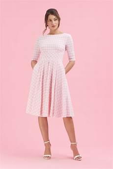 the pretty dress company hepburn pink white gingham