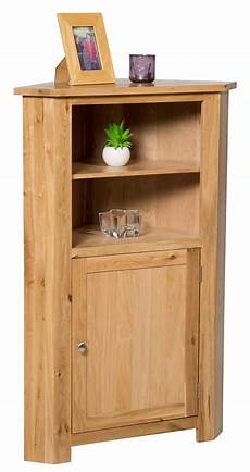 oak corner storage cupboard low cabinet with shelf