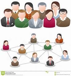 Community Network Social Media Network Community Stock Vector Illustration