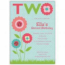 Second Birthday Party Invitations My Garden 2nd Birthday Invitations Paperstyle