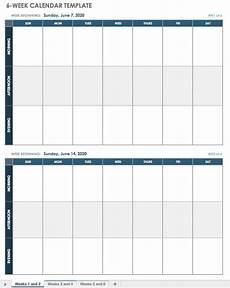 Week Calendar 15 Free Weekly Calendar Templates Smartsheet