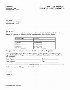 Past Due Rent Letter Past Due Payment Arrangement Agreement Ez Landlord Forms