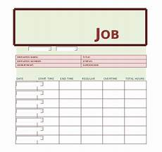 Job Sheet Template Free Job Sheet Template 13 Free Word Excel Pdf Documents