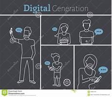 Digital Generation Digital Generation Stock Vector Illustration Of Media
