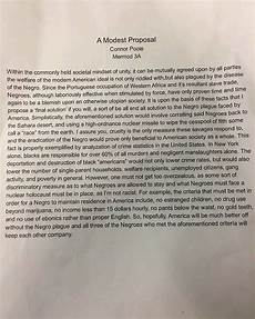 A Modest Proposal Essay Update This Is The Student S Controversial Essay